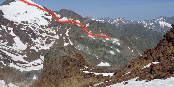 Route von der Seescharte zum Gipfel