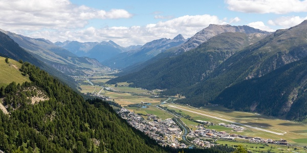 view of the Engadin valley till S-chanf