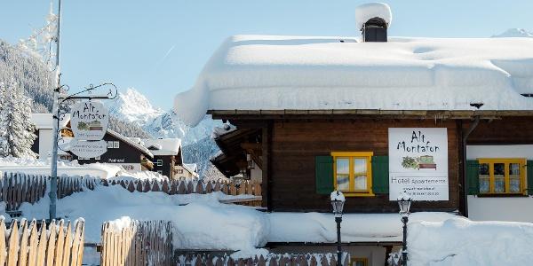 Alt Montafon Winter mit Blick auf Vallüla