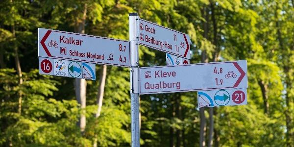 Radwegbeschilderung Bedburg-Hau