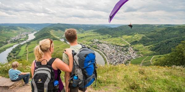 Moselsteig am Calmont Gipfelkreuz Region Cochem