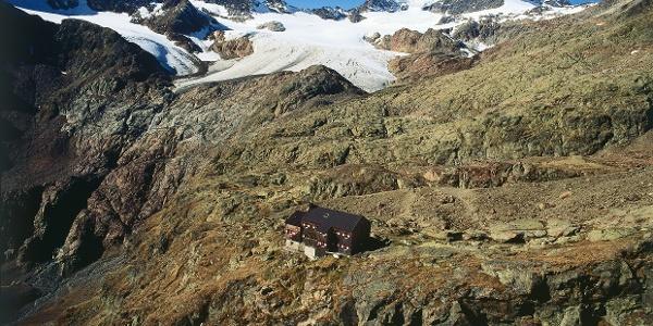 Durch die abgelegende Gegend im hinteren Ridnaun - im Bild die Teplitzerhütte.