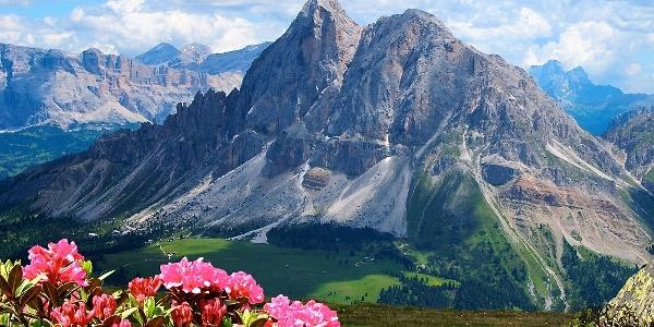Die Wanderung auf die Pfannspitze verspricht viele großartige Ausblicke in die Dolomiten.