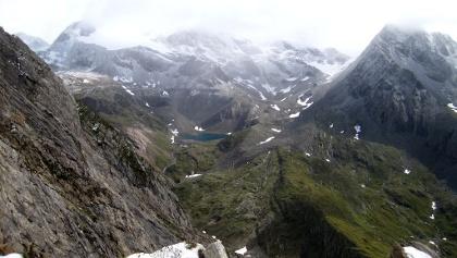 Blick auf Eisseehütte und Eissee
