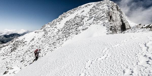 Alpine Hochtour auf den Großen Löffler der Zillertaler Alpen.