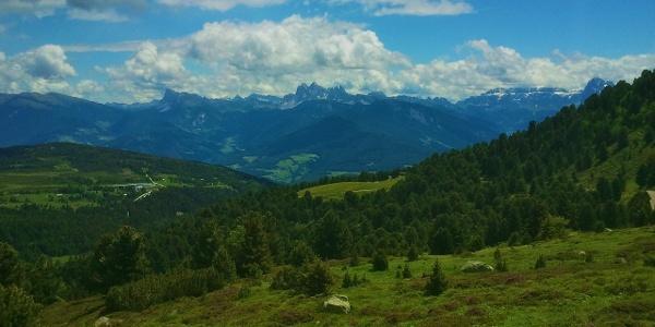 1500m difference in altitude on the tour from Villandro to the Corno del Renon