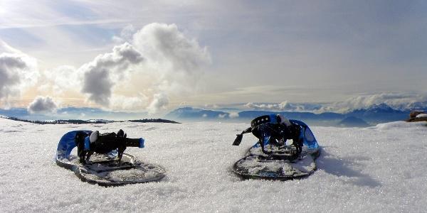 Ein guter Platz für Schneeschuhe: der Spieler in den Meraner Bergen.