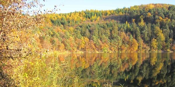 Herbstlandschaft am Kleinen Montiggler See