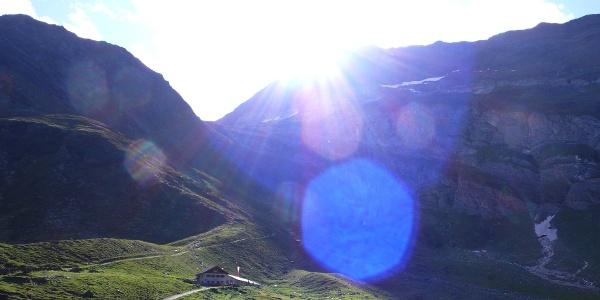 Aufstieg zur Stettiner Hütte, vorbei an der Lazinser Alm