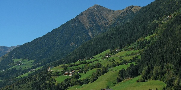 View on the Cima Montaccio over the havens of the Val Passiria.