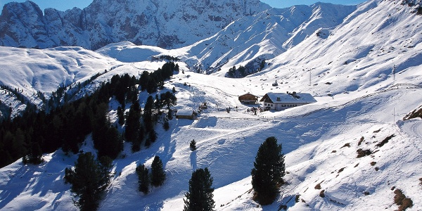 Mahlknechthütte und Dialerhaus auf der Seiser Alm