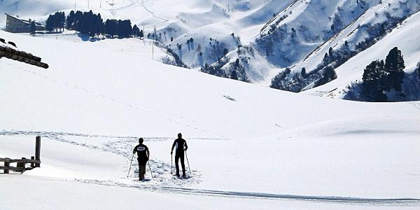 Schneeschuhwandern auf der Seiser Alm - durch das Durontal auf die Hochfläche.