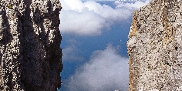 Das Tschagerjoch (2635 m) ist der imposante Übergang zwischen Kölner Hütte und dem Fassatal.