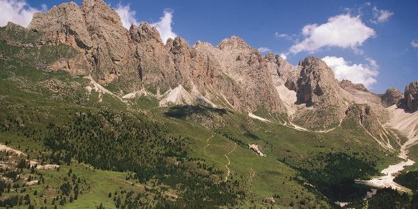 Regensburgerhütte oberhalb Wolkenstein