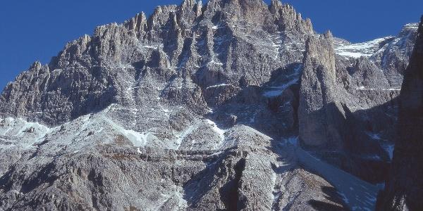 The Elfer mountain near Sexten and the alpini path