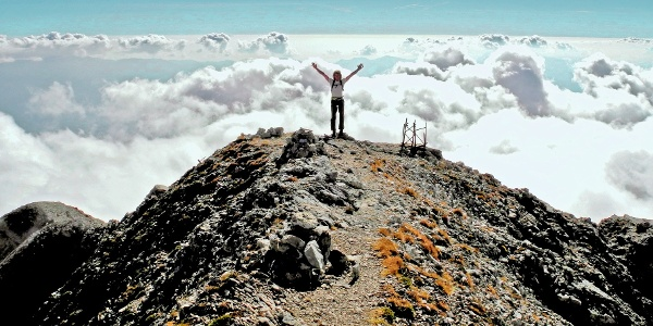 Der Berti-Klettersteig führt auf den Gipfel der Schiara