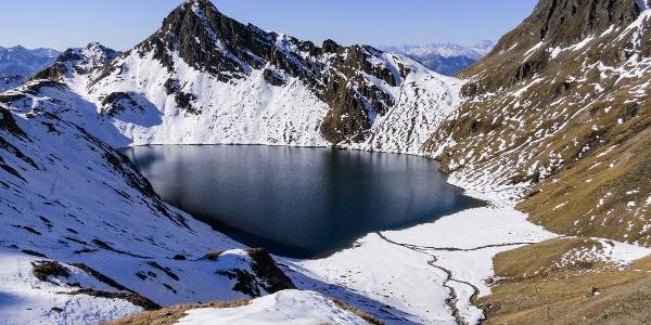 Der Wilde See am Pfunderer Höhenweg.