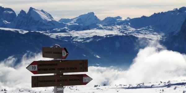 Auf der Schwarzseespitze am Ritten startet der Panoramaweg