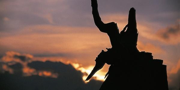 A sculpture on Hinteregg alpine hut.
