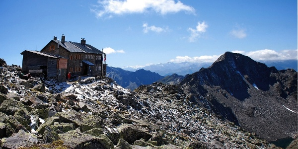 Spectacular view from the rifugio Europa haven.