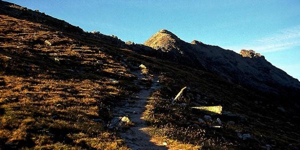 From here you reach the mountain Dassobello di dentro.