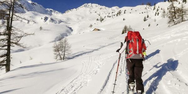 Panoramische Tour mit den Skier.