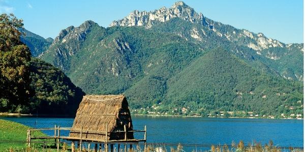 Am Lago di Ledro lebten einst Pfahlbauer, den Corno besteigen Freizeitsportler des 21. Jahrhunderts