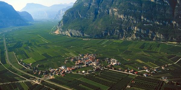 View of Kurtinig in the South Tyrolean region Unterland.