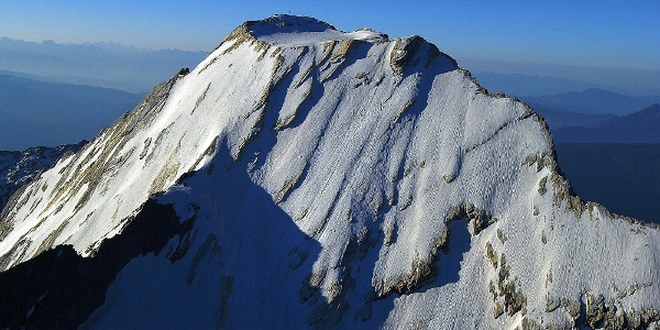 The Cima Fiammante mountian in the Gruppo Tessa group, a very challenging ski tour.