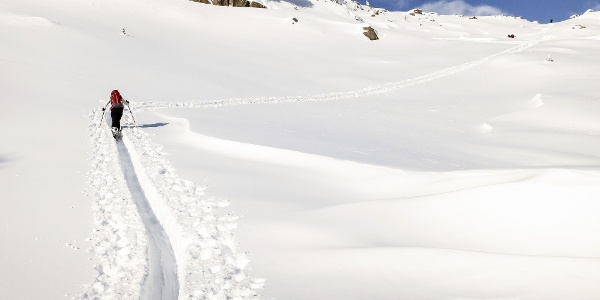 Auf die Westliche Gerstgraser Spitze - anspruchsvolle Skitour im Schnalstal.