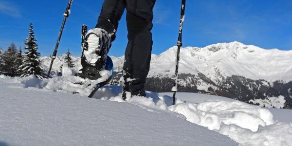 Bezaubernde Winterlandschaft: Schneeschuhtour aufs Hahnl in Passeier.