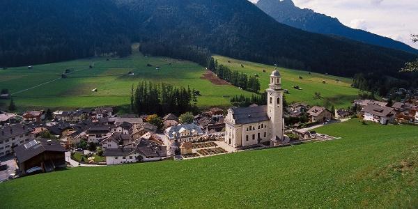 Sexten im Sextental ist Ausgangs- und Zielpunkt der Bergtour auf die Hollbrucker Spitze.
