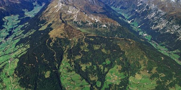 Das Gebiet um den Rosskopf mit seinen Almen.