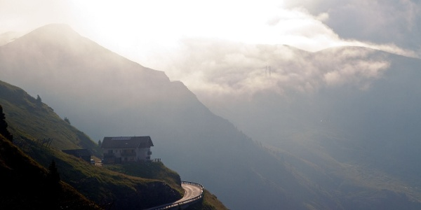 The streeet to the Passo Giovo pass is a real dream for any race biker.
