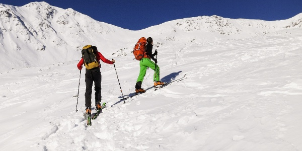 Leichte Skitour über die Clozalm auf die Schöngrubspitze oberhalb von Proveis.
