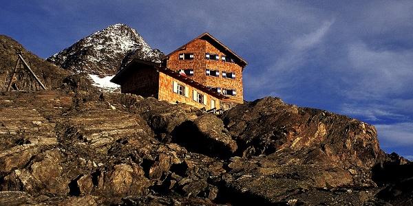 Die Stettiner Hütte am Eisjöchl