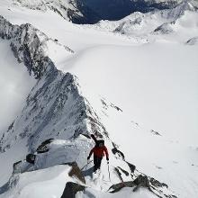 Grat zum Gipfel des Wilden Pfaff vom Pfaffennieder