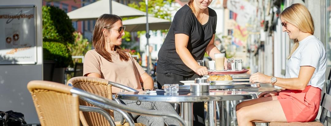 Strassencafé in Willisau