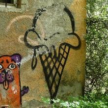 Graffiti an der Eschachklause