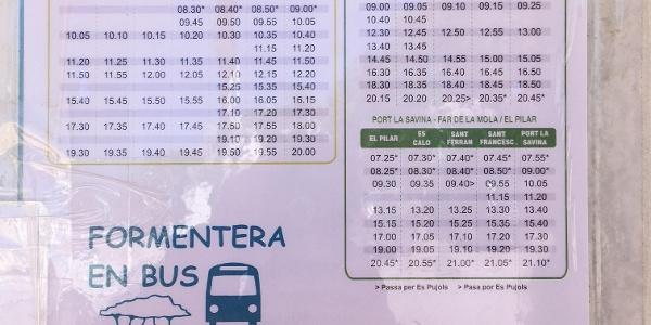 Busfahrplan (Stand 2021)