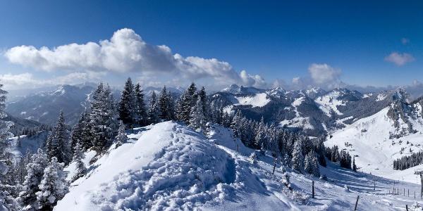 Das Rundum-Gipfelpanorama vom Rauhkopf