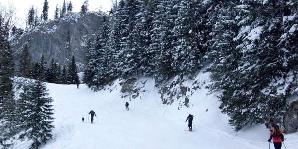 Auf stillgelegter Piste unterwegs zum Salzburger Hochthron