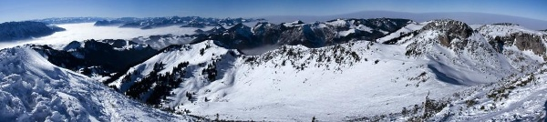 Gipfelpanorama zwischen Kaisergebirge und Weitlahnerkopf