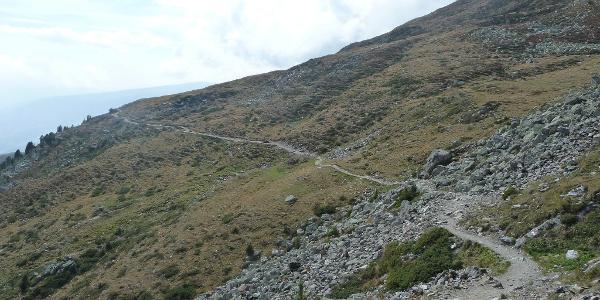 Trail nach der Radlseehütte
