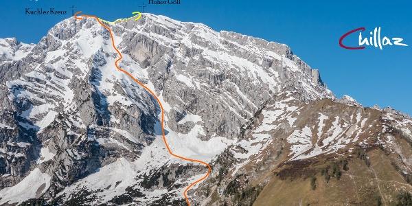 Übersichtsbild Göll Ost Ski-Extremklassiker (Topo)