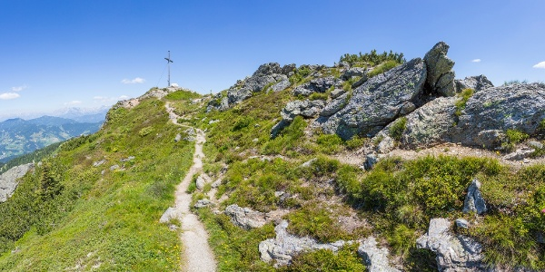 Weg zum Gipfelkreuz Grießenkar