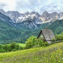 Iconic view from Sredjni Vrh