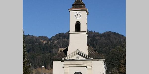 Satteins, Katholische Pfarrkirche Heiliger Georg und Friedhof