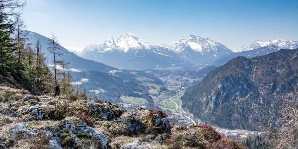 Blick von der Lärchecker Wand über das Berchtesgadener Tal