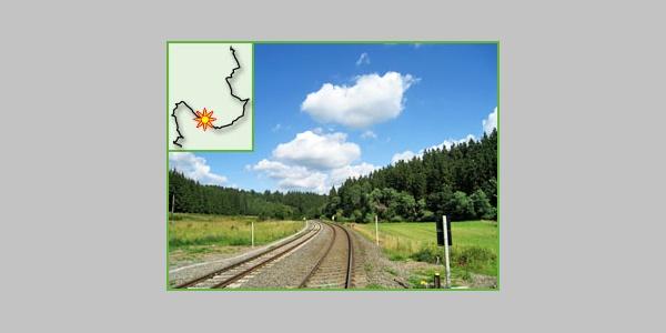Eifel-Bahnstrecke im Urfttal